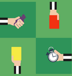 Modern flat set footbal referee vector