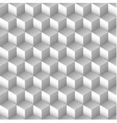 Monochrome cube seamless pattern vector