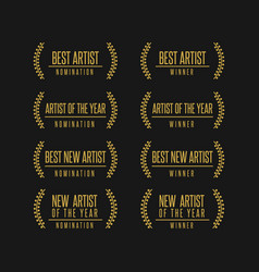 music award nomination winner vector image