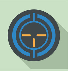old sniper aim icon flat style vector image