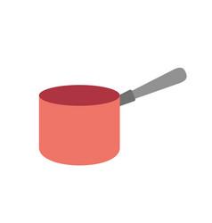 Pot kitchen utensil object to cuisine vector