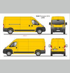 Ram promaster cargo delivery van l3h2 2018 vector