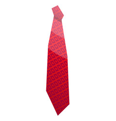 Red elegant tie icon isometric style vector