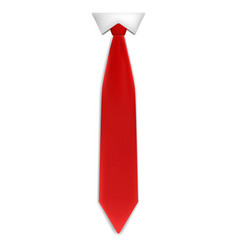 red tie icon realistic style vector image