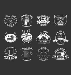 sewing and tailor icons vector image