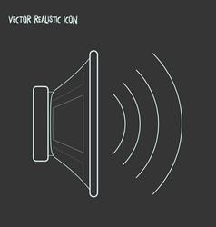 speaker icon line element of vector image