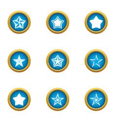 Starlight icons set flat style vector