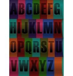Striped Black Alphabet vector image