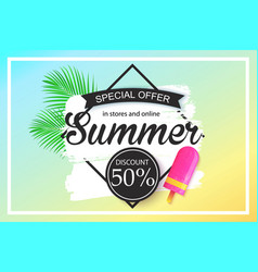 Summer sale background design for banner vector
