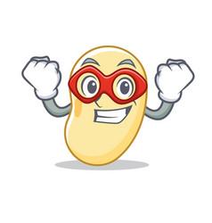 Super hero soy bean character cartoon vector