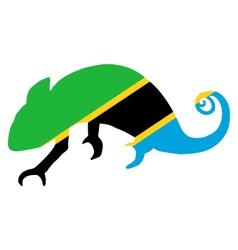 Tanzania Chameleon vector