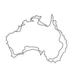 Territory of australia icon in outline style vector