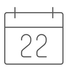 Thanksgiving calendar thin line icon holiday vector