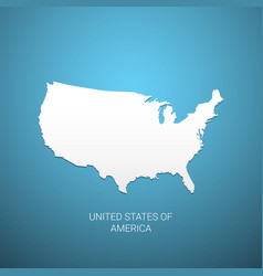 usa map on blue background vector image