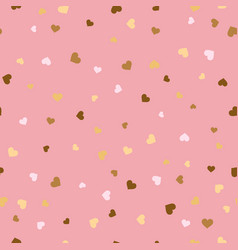 valentine s day hearts seamless pattern vector image