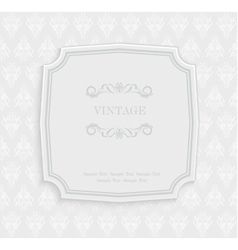 Vintage Invitation and Greeting Card with vector image
