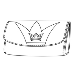 wallet with crown vector image