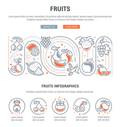 Website banner and landing page fruits vector