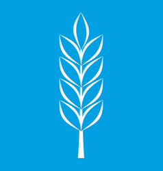 Wheat spike icon white vector