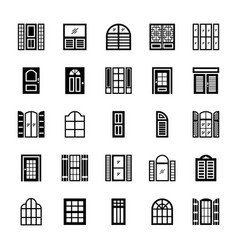 Window shades solid icons vector