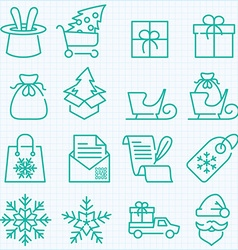 Winter and Christmas time shopping and delivery vector