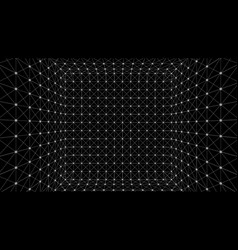 Wireframe polygonal box vector