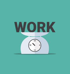 Work on day scales vector