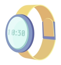 Wrist electronic watch icon cartoon style vector