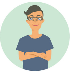 Young nerd guy character vector