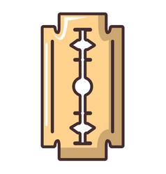 blade razor icon cartoon style vector image