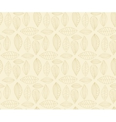 Hand drawn seamless pattern with leaf vector image vector image