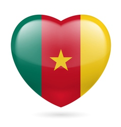 Heart icon of Cameroon vector image vector image