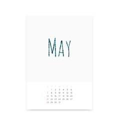 May 2017 Calendar Page vector image