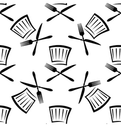 Seamless food and beverage background pattern vector image vector image
