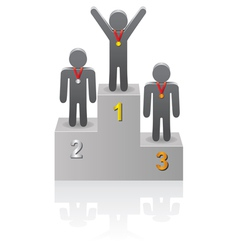 winners on the podium vector image