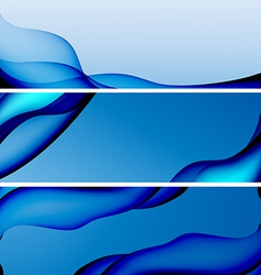 Abstract blue background banner vector image
