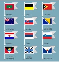 Flags set four-12 vector