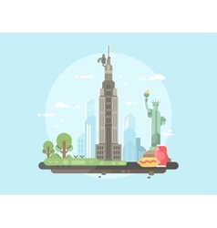 New york city flat vector image