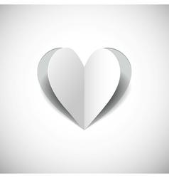 paper heart on white backgroundjpg vector image