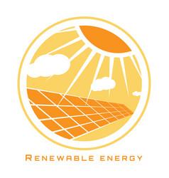 renewable energy solar energy vector image vector image
