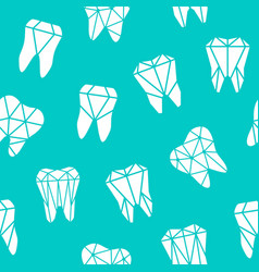 seamless background with symbols of teeth vector image