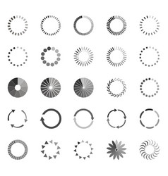 set of loading status icons vector image