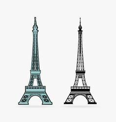 symbol eiffel tower vector image vector image