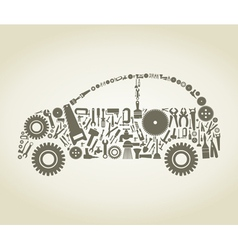 Tool the car vector image