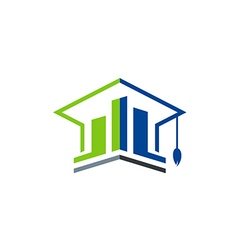 business education graduate logo vector image