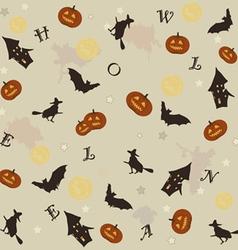 cute halloween background vector image vector image