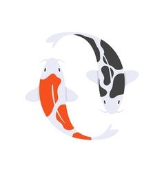 flat style of Japanese koi fish vector image
