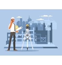 Foreman on construction flat design vector image