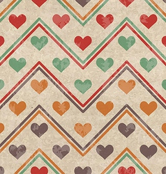 Geometric seamless pattern with hearts vector image vector image