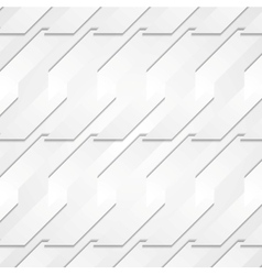 Grey paper tech shapes background vector image vector image